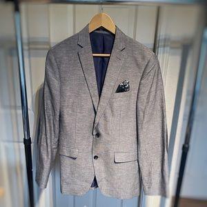 Bar III Men's Gray Cotton/Linen Blazer
